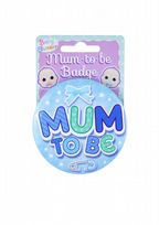Blue Mummy To Be Badge